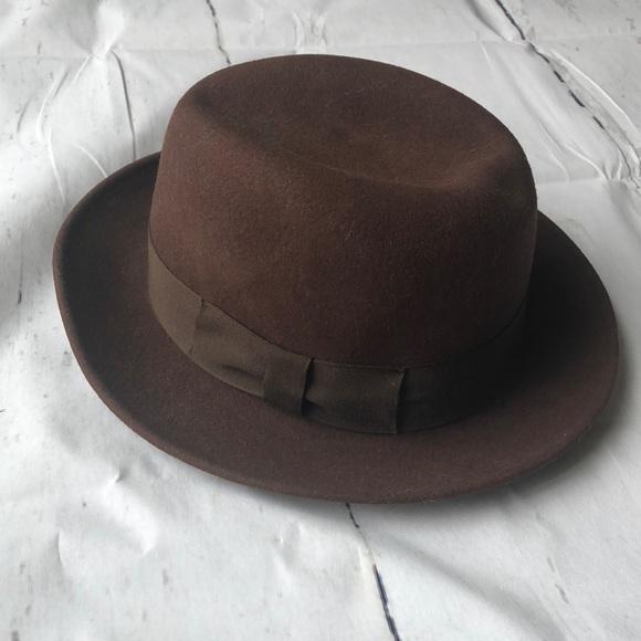 5e7cc8d87 True vintage men's Bollman hat wool USA fedora
